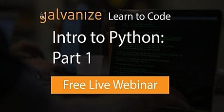 Intro to Python: Part 1 [Live-Online] tickets