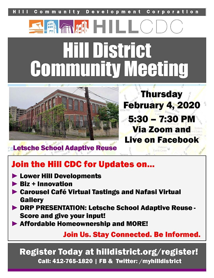 February 2021 - Virtual Hill District Community Meeting image