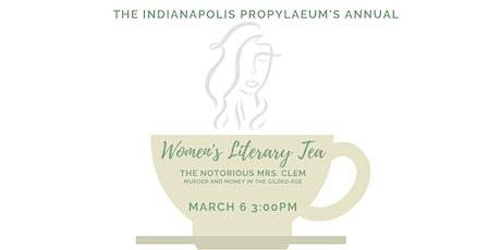 Women's Literary Tea- The Notorious Mrs. Clem tickets