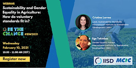 Be the Change: IISD on Sustainability and Gender Equality in Agriculture tickets