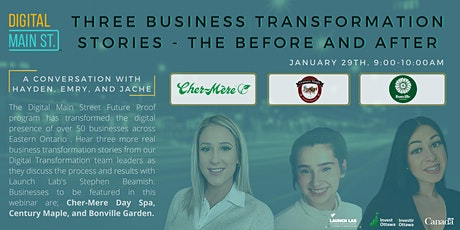 Three More Business Transformation Stories - The Before And After tickets