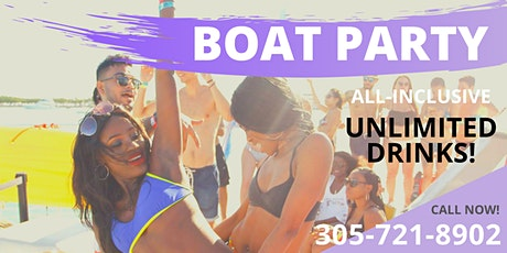 BOAT PARTY MIAMI BEACH ALL U CAN DRINK tickets