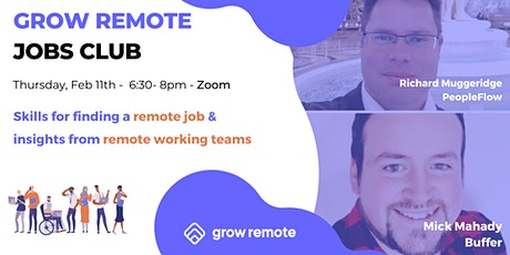 Grow Remote Jobs Club - February Meetup tickets