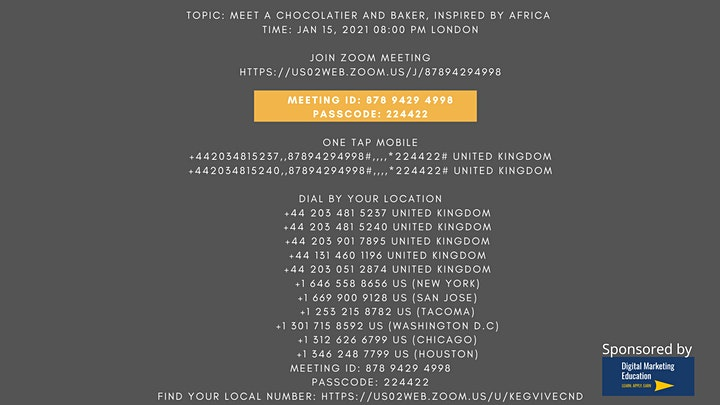 Chocolate and Baking inspired by Africa image