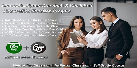 Dual LSS Green & Black Belt 4 Days Certification Training in Hartford, CT tickets