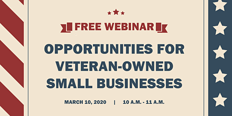 Opportunities for Veteran-Owned Small Businesses tickets