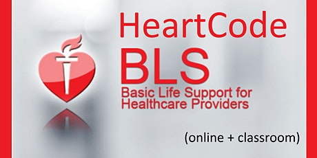 HeartCode Basic Life Support (BLS)--online + classroom tickets