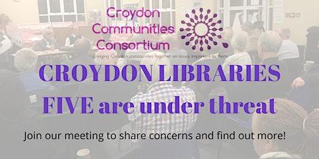Croydon Libraries under threat - follow up tickets