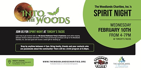The Woodlands Charities, Inc's Spirit Night tickets