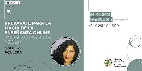 PREPARATE PARA LA MAGIA DE LA ENSEÑANZA ONLINE - ANDREA POLLERA entradas