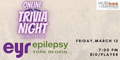 Online Trivia Night for Epilepsy York Region tickets