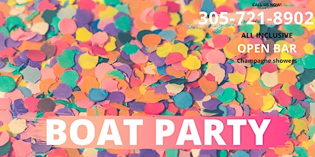 YACHT PARTY MIAMI BEACH  - OPEN BAR - GAMES (ALL IN) tickets