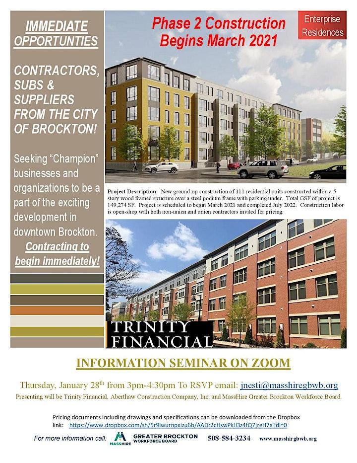 Brockton Enterprise Residences Construction Phase 2 Info Seminar image