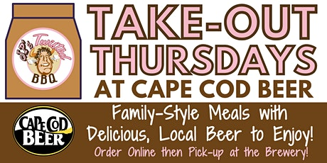 Take-out Thursdays with JP's Twisted BBQ at Cape Cod Beer tickets