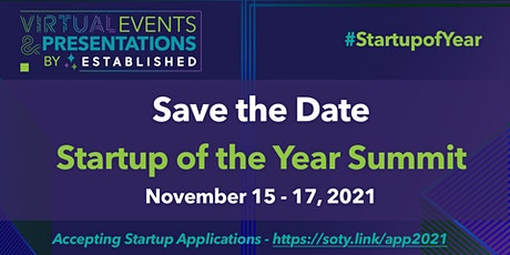 Startup of the Year Summit 2021  | Global Virtual Event Tickets