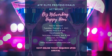 "ATP Elite Professionals Network ""Get Noticed"" Biz Networking Happy Hour tickets"