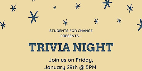 Trivia Night with Students for Change tickets