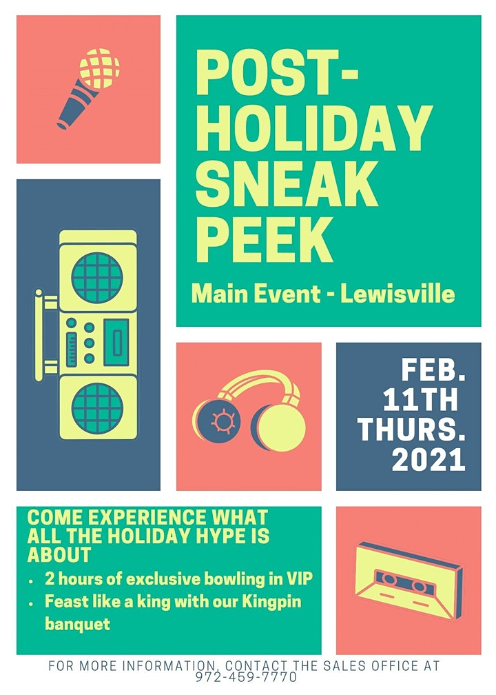 Post-Holiday Sneak Peek at Main Event Lewisville image
