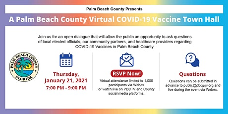 Palm Beach County Virtual COVID-19 Vaccine Town Hall tickets