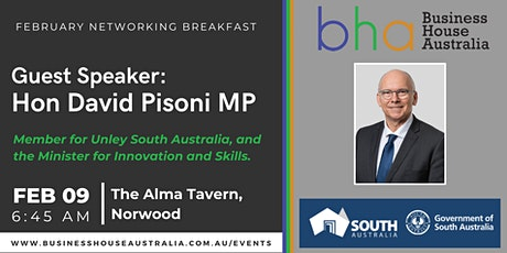 February Networking Event - Hon David Pisoni MP tickets