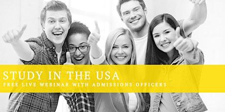 Study in the USA Webinar for Gulf & Turkey tickets