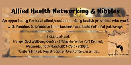Allied Health Networking and Nibbles tickets