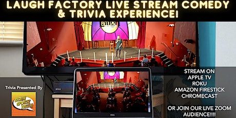 Laugh Factory Virtual Standup Comedy + Trivia Experience tickets