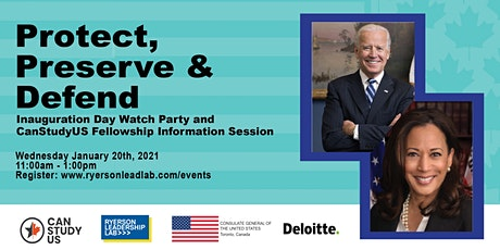 Protect, Preserve & Defend: Inauguration Day Watch Party and Info Session tickets