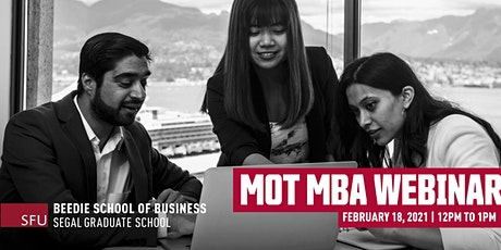 Management of Technology MBA Webinar tickets