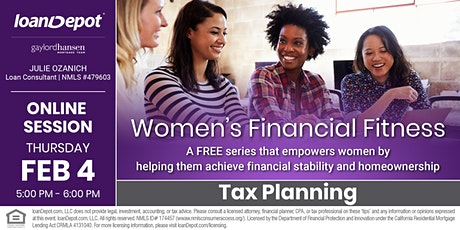 Women's Financial Fitness - Tax Planning [ONLNE] tickets