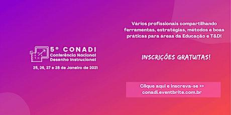 5o. CONADI - Conferência Nacional de Desenho Instrucional ingressos