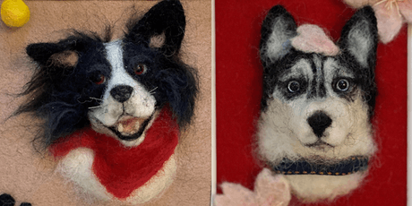 Needle Felting: Customized Dog Portrait tickets