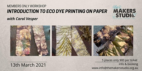 Eco Printing on Paper - Carol Vesper tickets