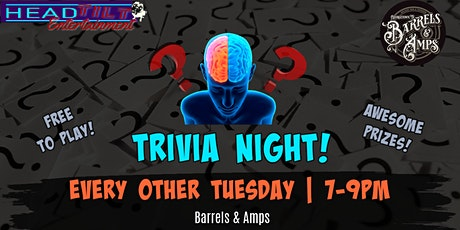 Trivia at Barrels & Amps - Every Other Tuesday tickets