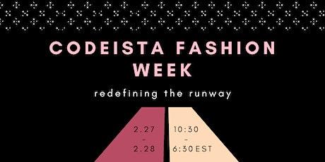 Codeista Fashion Week tickets