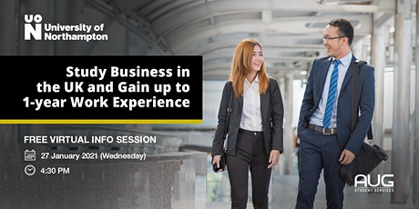 [FREE Info Session] Study Business in the UK with University of Northampton tickets