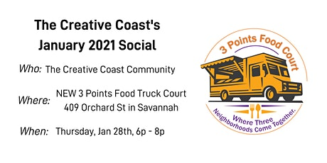 Creative Coast Social at 3 Points Food Truck Court tickets