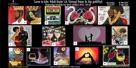 """""""Love is Life: R&B Style"""" (A Virtual Paint & Sip pARTy Valentine's Weekend) tickets"""
