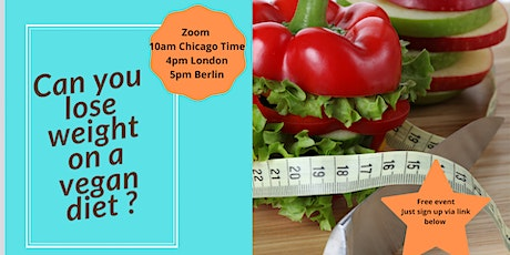 Can you lose weight on a vegan diet ? -  Free talk and practical tips tickets