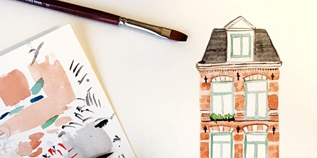 Watercolour Wednesday #2 with Oh Pretty Paper: Canal Houses tickets
