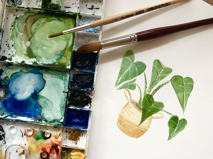 Watercolour Wednesday #4 with Oh Pretty Paper: Pots & Plants image
