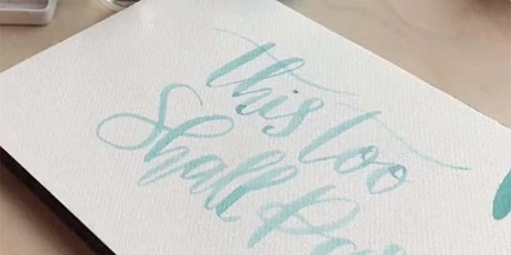 Watercolour Wednesday #5 with Oh Pretty Paper: Brush lettering tickets
