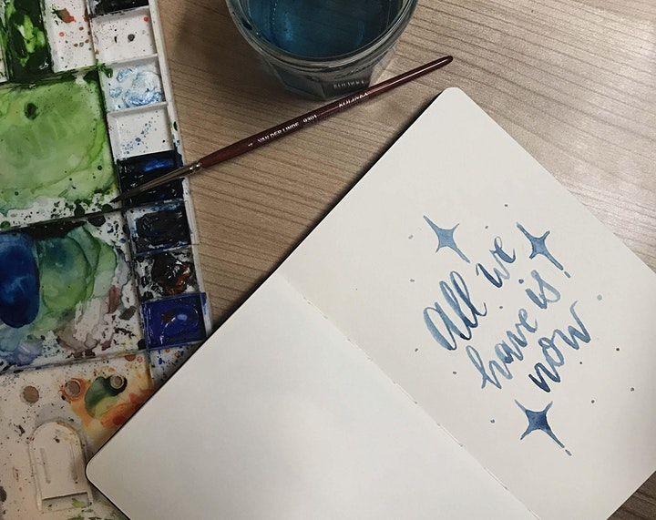 Watercolour Wednesday #5 with Oh Pretty Paper: Brush lettering image