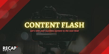 Recap Media's Content Flash! tickets