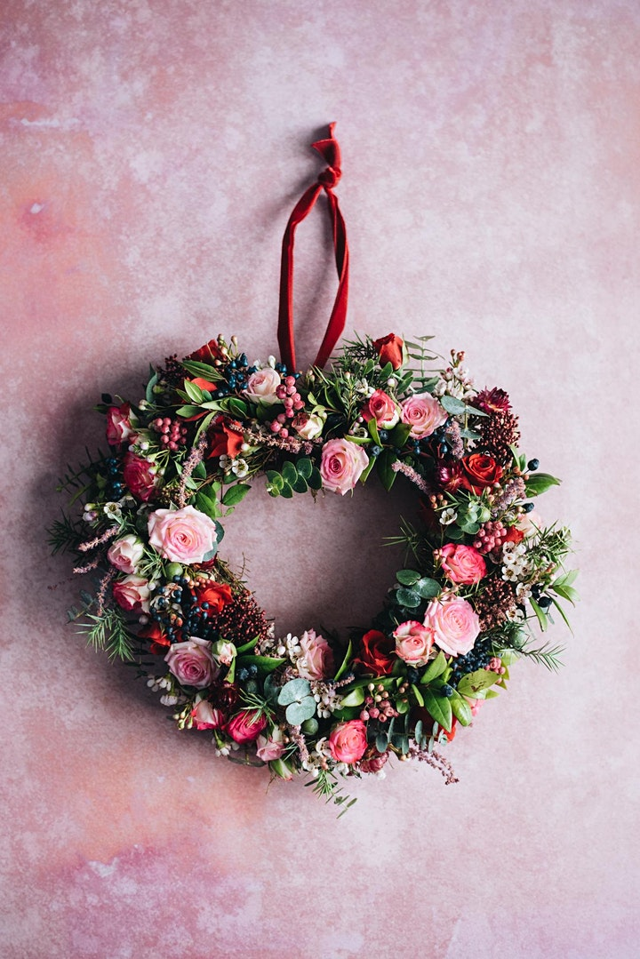 Valentine's Luxury Online Wreath Workshop image