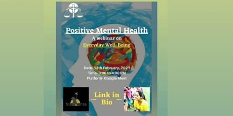Webinar on Positive Mental Health tickets