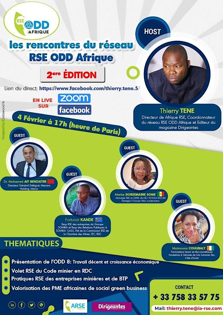 Image pour Deuxième édition des Rencontres du Réseau RSE ODD Afrique