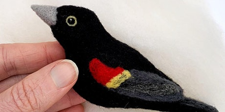 VIRTUAL: Needle Felted Red Winged Blackbird with Erin Carlson tickets