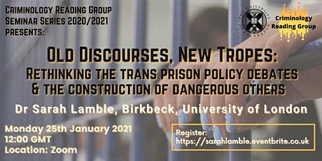 Old Discourses, New Tropes: Rethinking the Trans Prison Policy Debates tickets