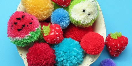 MAKE YOUR OWN POM POM FRUIT WITH BUTTONBAG - FREE tickets